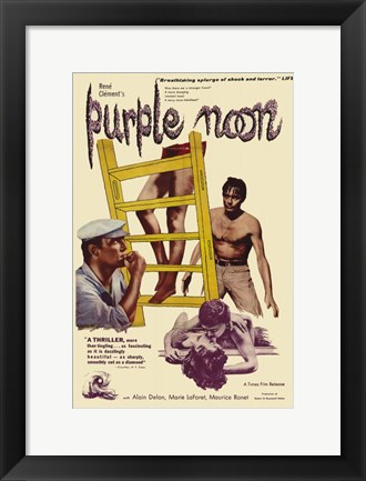 Framed Purple Noon Print