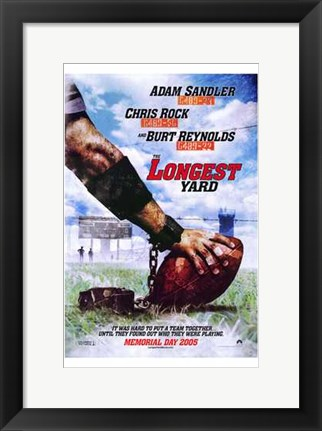 Framed Longest Yard 2005 Print