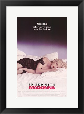 Framed Truth or Dare In Bed with Madonna Print