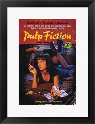 Framed Pulp Fiction Coming Soon Print
