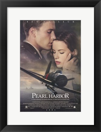 Framed Pearl Harbor Ben Affleck Print