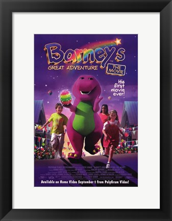 Framed Barney's Great Adventure Print