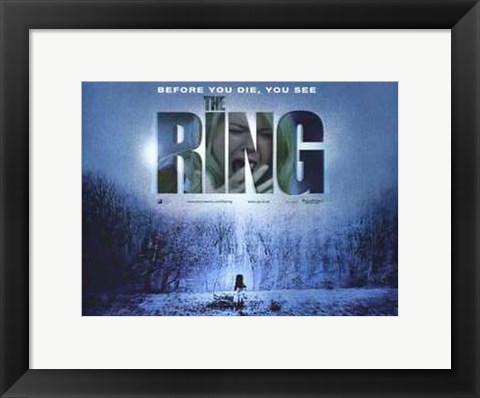 Framed Ring Tha Last Thing You See Print