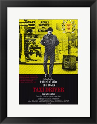 Framed Taxi Driver Yellow Print