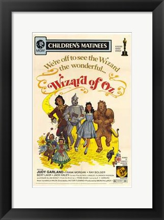 Framed Wizard of Oz We're Off to See the Wizard Print