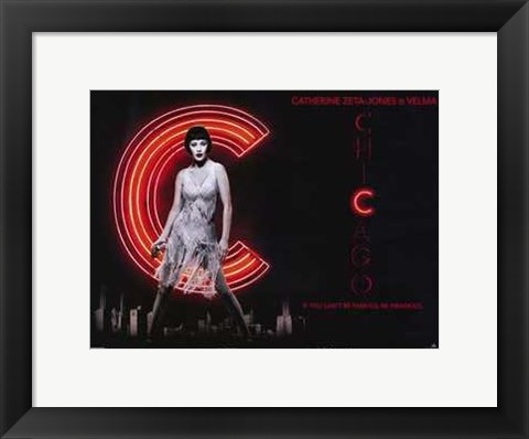 Framed Chicago Velma Kelly Print