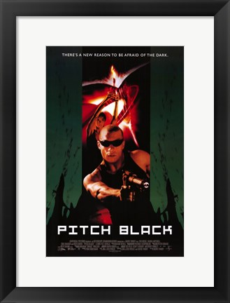 Framed Pitch Black Vin Diesel Print