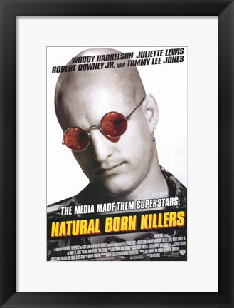 Framed Natural Born Killers Woody Harrelson Print