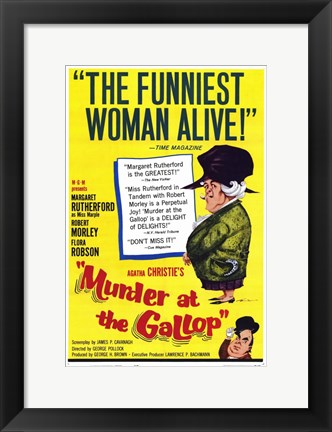 Framed Murder At the Gallop Print