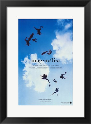Framed Magnolia Falling Frogs Print