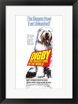 Framed Digby  the Biggest Dog in World Print