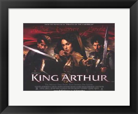 Framed King Arthur Keira Knightley as Guinevere Print