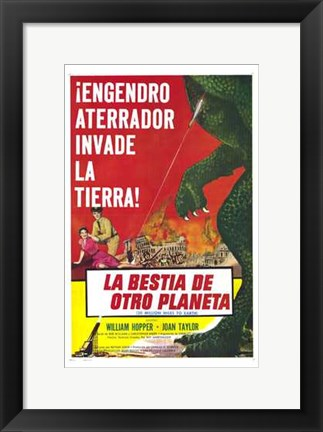 Framed 20 Million Miles to Earth Spanish Print