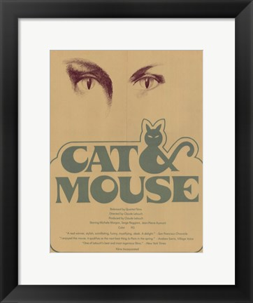 Framed Cat and Mouse Print