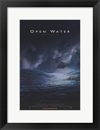 Framed Open Water Movie Print