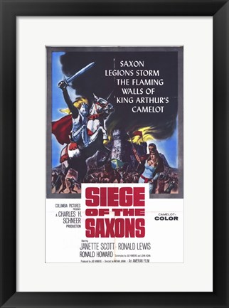 Framed Siege of the Saxons Print