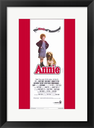 Framed Annie Movie of Tomorrow Tall Print