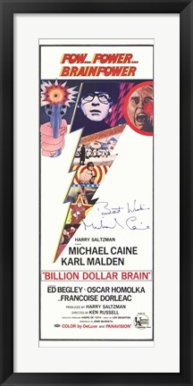 Framed Billion Dollar Brain Print