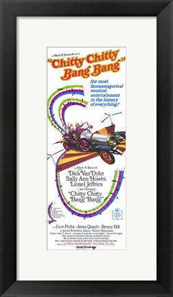 Framed Chitty Chitty Bang Bang - tall Print
