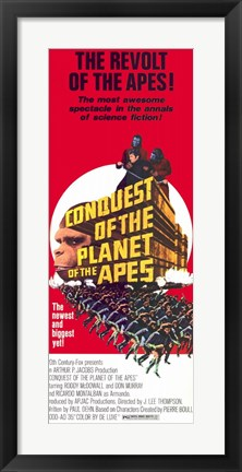 Framed Conquest of the Planet of the Apes Mcdowall And Murray Print
