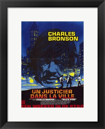 Framed Death Wish: Un Justied Dans La Ville French Print