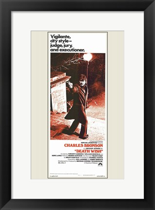 Framed Death Wish Movie Print
