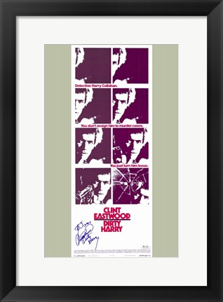 Framed Dirty Harry Purple Print