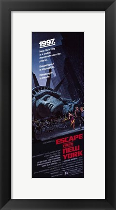Framed Escape from New York Tall 1997 Print