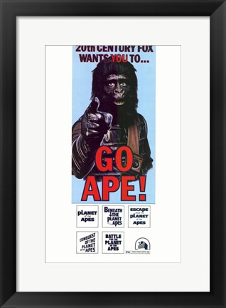 Framed Planet of the Apes Go Ape! Print