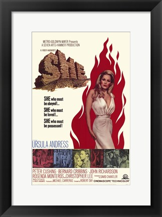 Framed She Ursula Andress Print