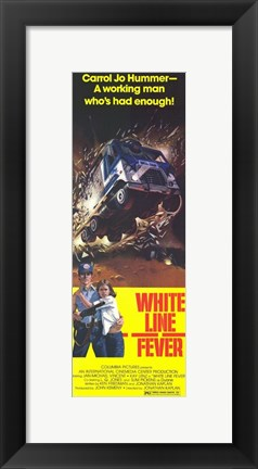 Framed White Line Fever Print