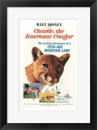 Framed Charlie  the Lonesome Cougar Print