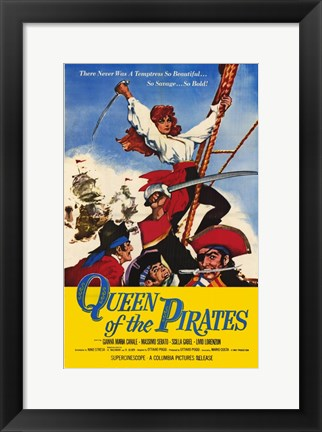 Framed Queen of the Pirates Print
