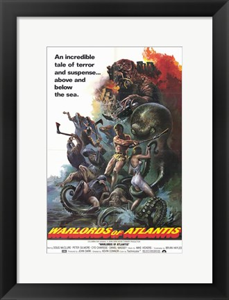 Framed Warlords of Atlantis, c.1978 Print
