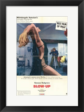 Framed Blow Up Best Film of 1966 Print