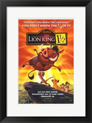 Framed Lion King 1 1-2 Print