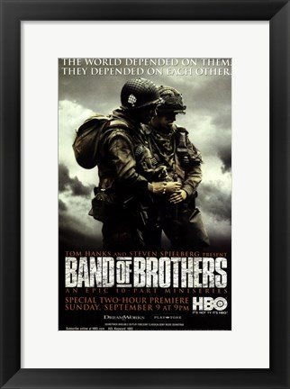 Framed Band of Brothers World Depended on Them Print