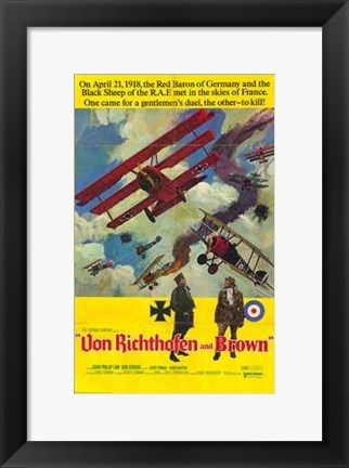 Framed Von Richthofen and Brown Print