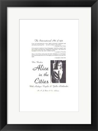 Framed Alice in the Cities Print