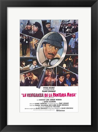 Framed Revenge of the Pink Panther Spanish Print