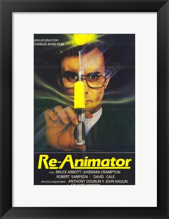 Framed Re-Animator Bruce Abbott Print