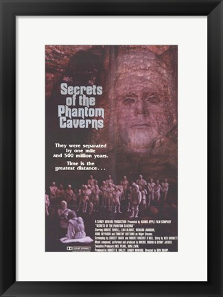 Framed Secrets of the Phantom Caverns Print