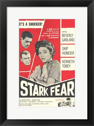 Framed Stark Fear Print