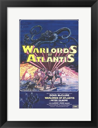 Framed Warlords of Atlantis (blue) Print