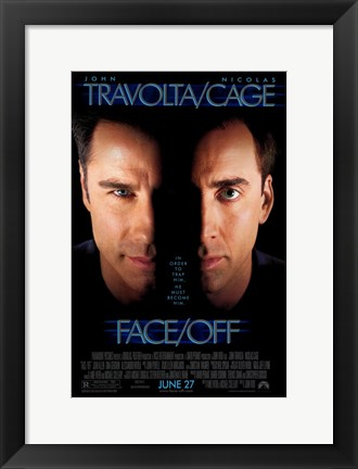 Framed Face Off Print