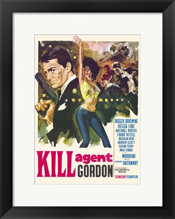 Framed Kill Agent Gordon Print