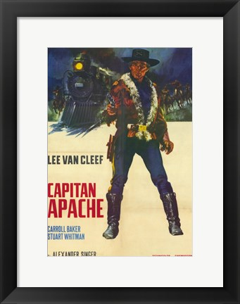 Framed Captain Apache Print