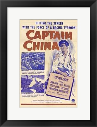 Framed Captain China Print