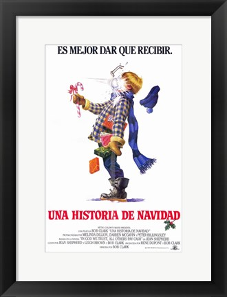 Framed Christmas Story Spanish Print