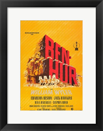 Framed Ben Hur Orange Print